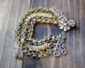 Glitter - Chain & Vintage Rhinestones Bracelet