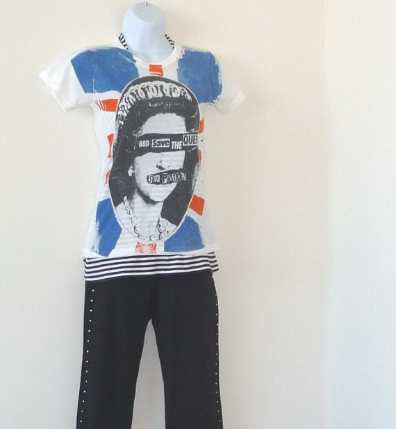 RESERVED for Storm - tee shirt, tshirt, punk rock, rockstar, UK, Union Jack, British flag