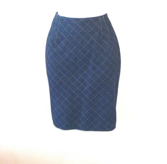 emanuel ungaro designer denim skirt size 8