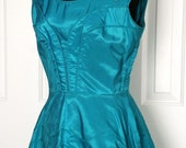 vintage TURQUOISE DREAM party dress