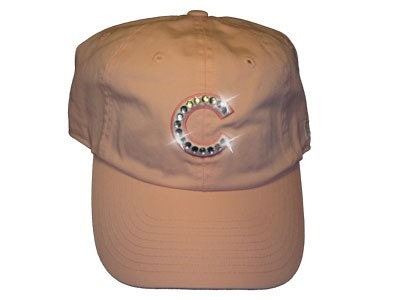 Chicago Cubs Pink Rhinestone Bling Hat