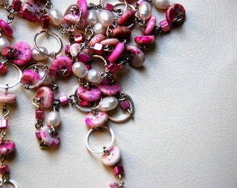 Cotton Candy Pink Necklace