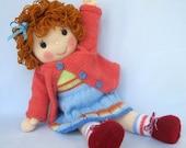 Belinda Jane Doll knitting pattern - INSTANT DOWNLOAD