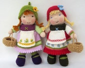 Fern and Flora doll knitting pattern
