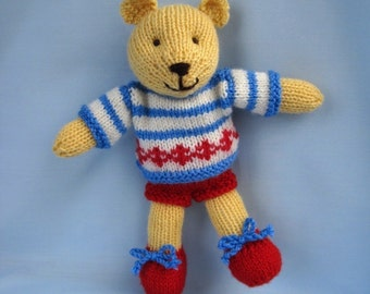 Butternut Bear teddy knitting pattern - INSTANT DOWNLOAD