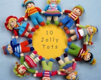 Jolly Tots dolls knitting pattern - INSTANT DOWNLOAD