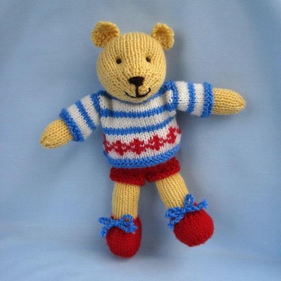Butternut Bear teddy knitting pattern - INSTANT DOWNLOAD
