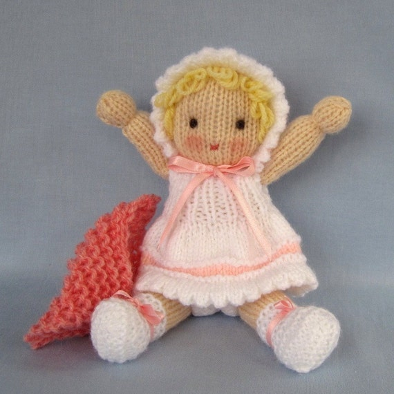 Daisy Doll Knitting Pattern : Little Daisy doll knitting pattern - INSTANT DOWNLOAD from ...