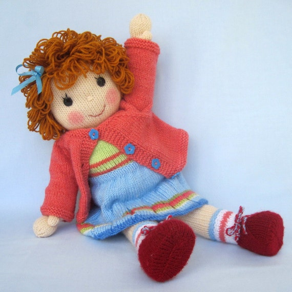 Belinda Jane Doll knitting pattern INSTANT DOWNLOAD by dollytime