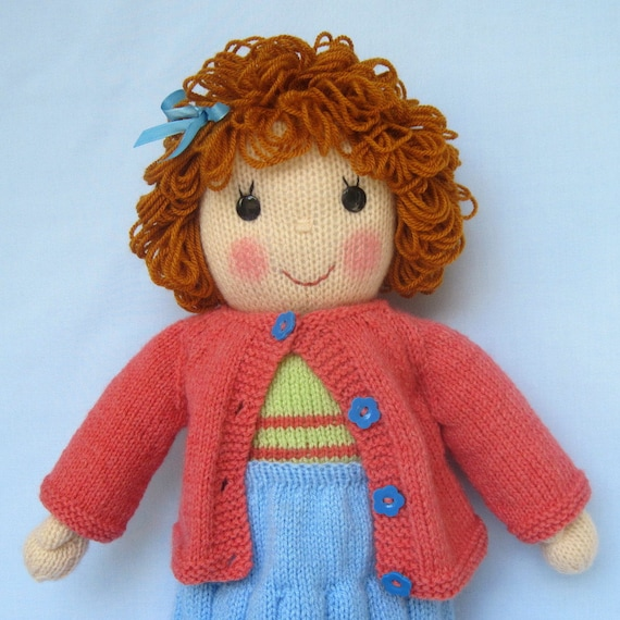 Belinda Jane doll knitting pattern - Pdf INSTANT DOWNLOAD - knitted toy doll ...