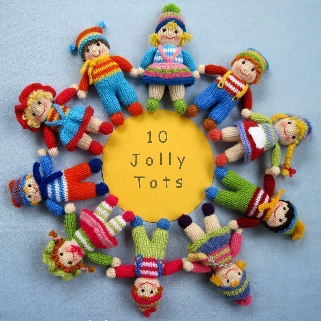 Knitting Patterns For Tiny Dolls : Jolly Tots dolls knitting pattern INSTANT DOWNLOAD