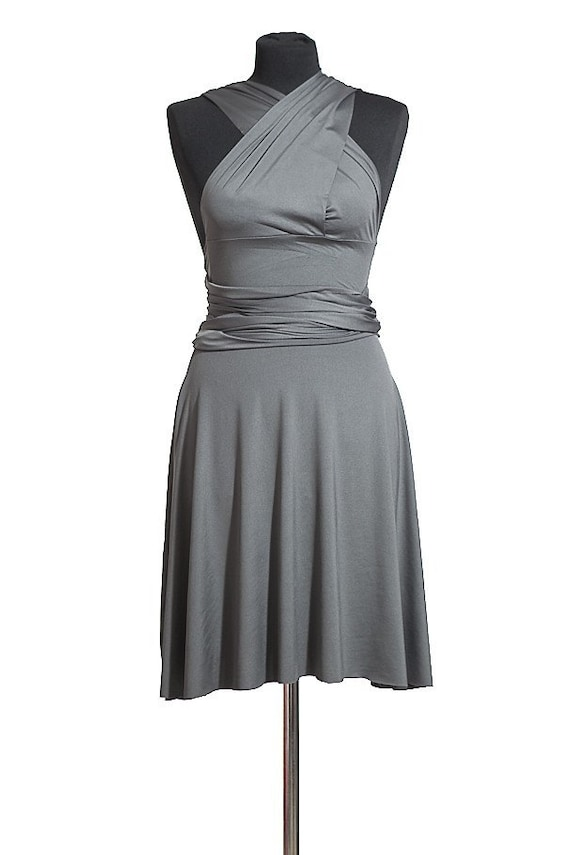 Reserved for Danielle-Storm Grey Convertible Dress