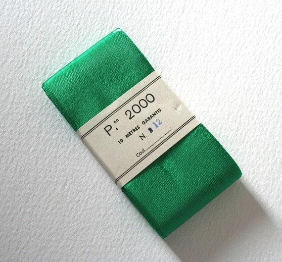 10 Meters of Vintage Green French Ribbon