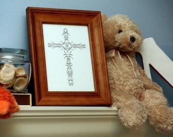 Name Cross ORIGINAL Personalized Baptism print - 8x10 FREE SHIPPING