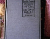 Vintage antique book Nathaniel Hawthorne House of the Seven Gables