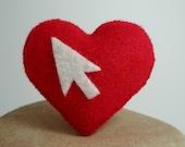Cursor Heart Brooch Pin