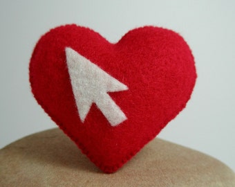 Cursor Heart Brooch Pin