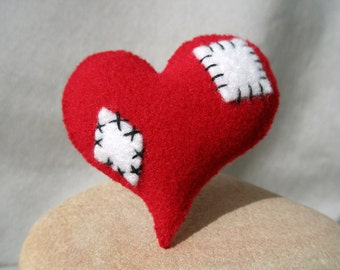 Patched Heart Brooch