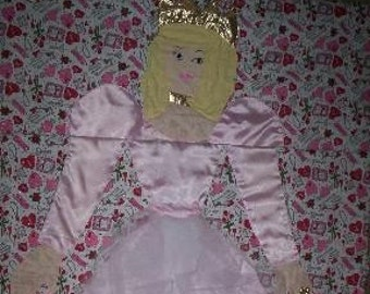 3D Quilted Princess Character Sleeping Bag