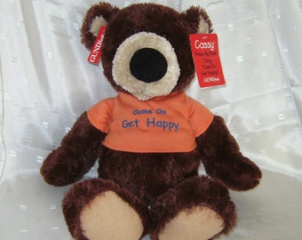 Cassie, a Gund Musical Bear Singing Come On Get Happy