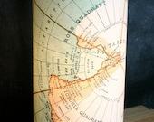 LAMP: Vintage Antarctica Map Home Decor