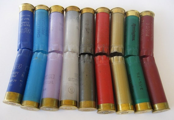 Shotgun Shells Rainbow Color Lot of 12 Gauge Craft & Altered Art Projects