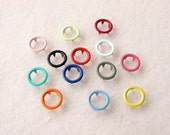 100 sets, Mixed Colors (13 colors) Open Prong Snap Button, Lead-Free and Nickel-Free