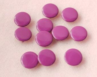50 sets, Pruple (XM25) Capped Prong Snap Button, Size 14L (8.5 mm)