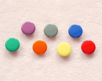 50 sets, Mixed Colors (7 colors) Capped Prong Snap Button, Size 14L (8.5 mm)
