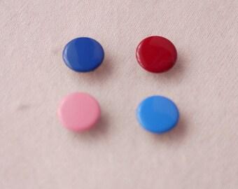 50 sets, Mixed Color (4 Colors) Capped Prong Snap Button Set 2, Size 14L (8.5 mm)