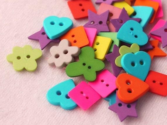 40pcs of Colorful Fancy Buttons Set 6