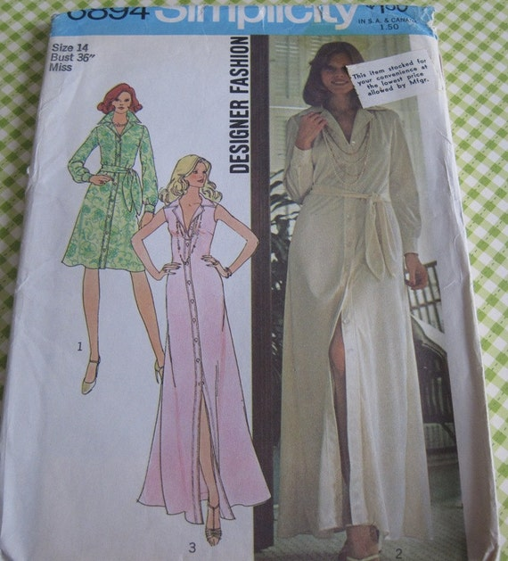 UNCUT Vintage Simplicity Sewing Pattern 6894 Misses' Dress..size 14...bust 36