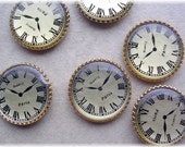 Lot of 6 Clock Faces for Jewelry Making
