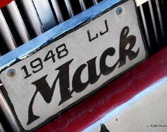 MACK Sign Photo Note Card