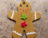 SALE Gingerbread Man Decoration Small