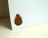 Personalized Stationery Pinecone Stationary Note Cards Bridesmaid Gift