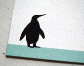 Penguin Personalized Notepad Monogram Note Paper Teacher Notepad Letter Writing Paper Note Paper 8.5 x 11 Notepad