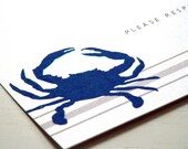 Blue Crab Party Invitations - Summer Bash - Maryland Crab - Clambake Invites - Set of 10
