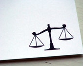 Scales of Justice Personalized Stationery - Libra Scales - Lawyer Thank You Notes . Attorney at Law Flat Notes . Notecards . Set of 10