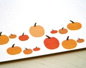 Pumpkin Personalized Stationery - Pumpkin Patch Thank You Notes - Festive Fall Autumn Cards - White and Orange Notecards - Set of 10