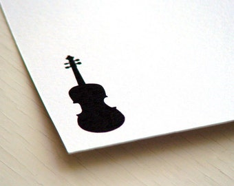 Violin Personalized Stationery - Note Cards - Thank You Notes - Set of 10