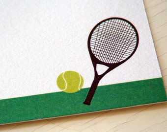 Tennis Personalized Stationery - Thank You Notes - Notecards - US Open - Wimbledon - Set of 10