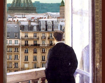 FREE SHIPPING in the USA and Canada! - Envy - by Victor Bosson, Paris, Eiffel Tower,contemplation, humour, art print
