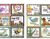 Lunch Box Notes or Backpack Notes for Kids (Girls) Set 5