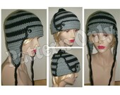 Crochet Pattern - Adult and Large Child Size Aviator Hat