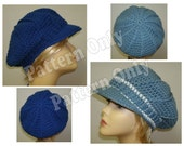 Crochet Pattern - Adult Size Ladies Spoke Design Brim Slouch Hat