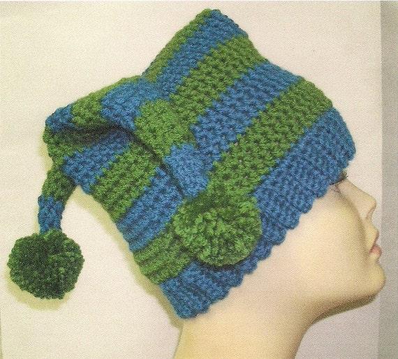 Free Crochet Joker Hat Pattern : Crochet Pattern 3 Point Jester Hat Adult size