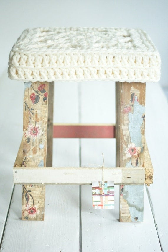 wood and big wool stool