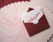 Messenger Bird Letterpress Valentine Card - Limited Edition