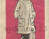 Vintage 1960s Smock Banded Neck Patch Pockets Mail Order 4628 Bust 32 UNCUT